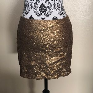Skirts - Gold Sequin Mini- Never Worn!
